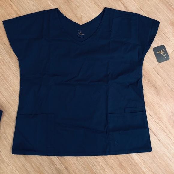 17bf578c9ce9c7 Jaanuu dolman scrub top - estate navy blue